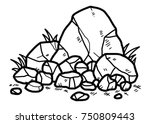 Rocks   Cartoon Vector And...
