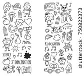 school  kindergarten. happy...   Shutterstock .eps vector #750822373