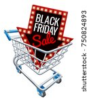 a black friday sale sign in a... | Shutterstock .eps vector #750824893