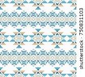 ethnic boho seamless pattern.... | Shutterstock .eps vector #750831103