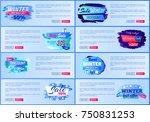 winter  50 percent big sale... | Shutterstock .eps vector #750831253
