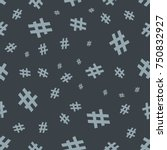 hashtag icon seamless pattern.... | Shutterstock .eps vector #750832927