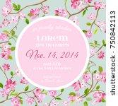wedding invitation or... | Shutterstock .eps vector #750842113