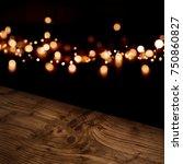 diagonal rustic wooden table... | Shutterstock . vector #750860827