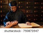 chinese medicine practitioner... | Shutterstock . vector #750873547