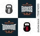 set of emblems with original... | Shutterstock .eps vector #750874393