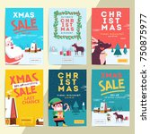 christmas social media sale... | Shutterstock .eps vector #750875977