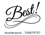 best sign. vector illustration. ... | Shutterstock .eps vector #750879757