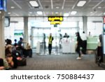blur image of modern airport... | Shutterstock . vector #750884437