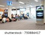 blur image of modern airport... | Shutterstock . vector #750886417