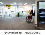 blur image of modern airport... | Shutterstock . vector #750886453
