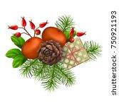 christmas vector festive... | Shutterstock .eps vector #750921193