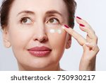 beautiful middle age model... | Shutterstock . vector #750930217