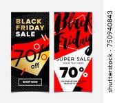 black friday lettering written... | Shutterstock .eps vector #750940843