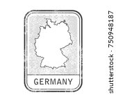 stamp with contour of map of... | Shutterstock .eps vector #750948187