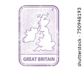 stamp with contour of map of... | Shutterstock .eps vector #750948193