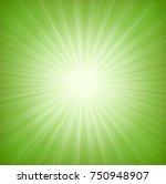 elegant green starburst... | Shutterstock .eps vector #750948907