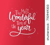 christmas calligraphic... | Shutterstock .eps vector #750949303