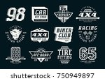 car races and service badges.... | Shutterstock .eps vector #750949897