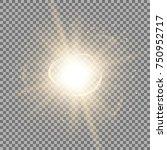 star burst with sparks  light...   Shutterstock .eps vector #750952717