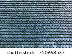 old wooden roof texture ... | Shutterstock . vector #750968587