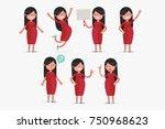 pregnant woman vector... | Shutterstock .eps vector #750968623
