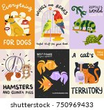 pets posters and banners set... | Shutterstock .eps vector #750969433