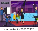 tv show orthogonal composition... | Shutterstock .eps vector #750969493