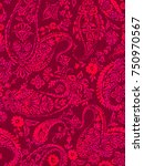seamless paisley pattern for... | Shutterstock . vector #750970567