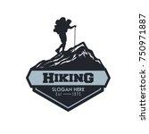 vector template hiking... | Shutterstock .eps vector #750971887