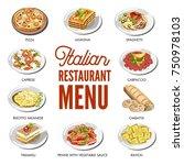 italian cuisine food... | Shutterstock .eps vector #750978103