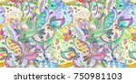 colorful seamless texture with... | Shutterstock . vector #750981103