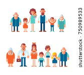 vector set of characters in a... | Shutterstock .eps vector #750989533