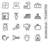 thin line icon set   atom core  ... | Shutterstock .eps vector #751005703