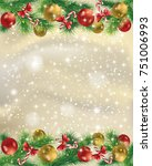 elegant gold christmas... | Shutterstock .eps vector #751006993