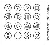 set of 16 outlined icons for...