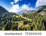 mountains and peaks landscape.... | Shutterstock . vector #751010143
