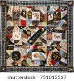 quilt crazy pattern  by tamar...   Shutterstock . vector #751012537