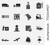 set of delivery vector icons. | Shutterstock .eps vector #751014907
