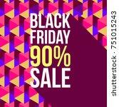 trendy promo banner for black... | Shutterstock .eps vector #751015243