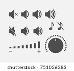 digital sound controller icons... | Shutterstock .eps vector #751026283