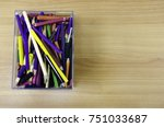 color pencil in rectangle... | Shutterstock . vector #751033687