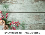 christmas decoration of... | Shutterstock . vector #751034857
