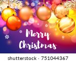 christmas background. | Shutterstock .eps vector #751044367