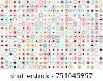 beautiful geometric pattern... | Shutterstock .eps vector #751045957