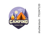 illustration for sport camping  ... | Shutterstock .eps vector #751047133