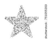 silver christmas star isolated... | Shutterstock .eps vector #751055203