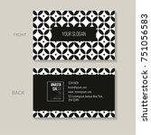 bilateral business card... | Shutterstock .eps vector #751056583