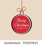 vector christmas ornament with... | Shutterstock .eps vector #751057813