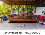 veranda private swimming pool... | Shutterstock . vector #751060477